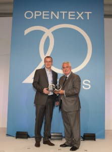 Collecting the Global Star Award at Content World 2011